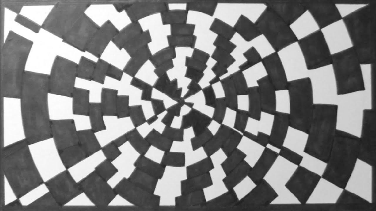 optische t uschung 3 zeichnen im zeitraffer optical. Black Bedroom Furniture Sets. Home Design Ideas