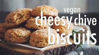 Vegan Cheesy Chive Biscuits | Hot For Food
