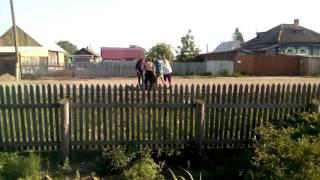 Прикол в деревне, катаем женщину на телеге пьяную в дрова