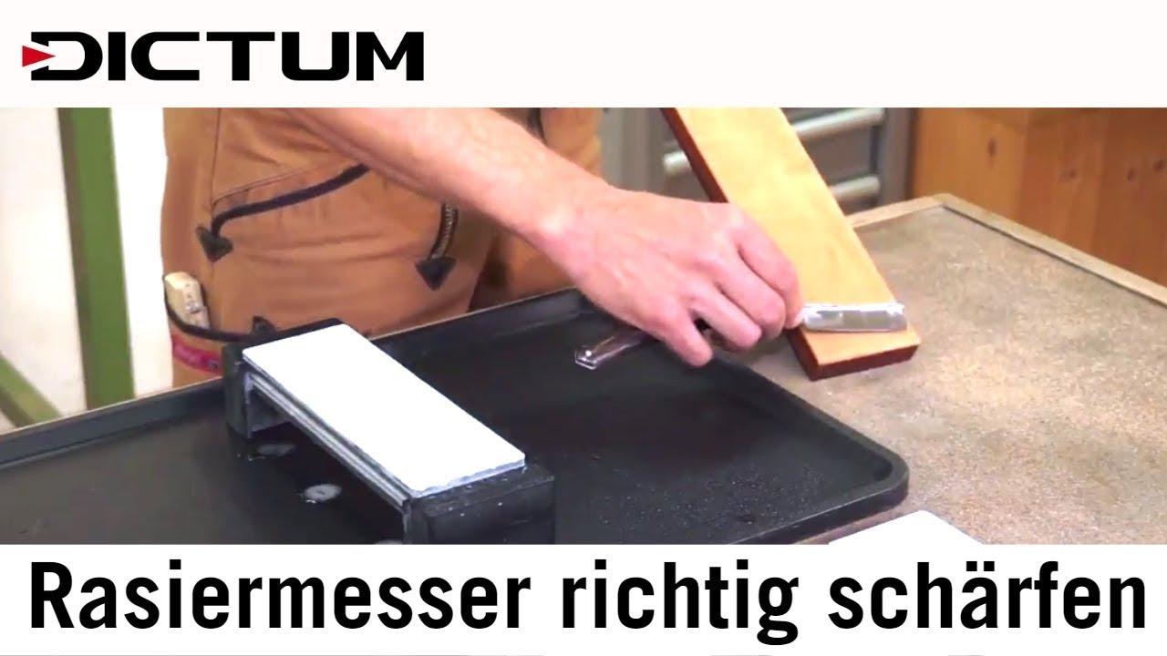 Turbo Rasiermesser Schärfen auf Banksteinen und Stoßriemen - Richtig VN74