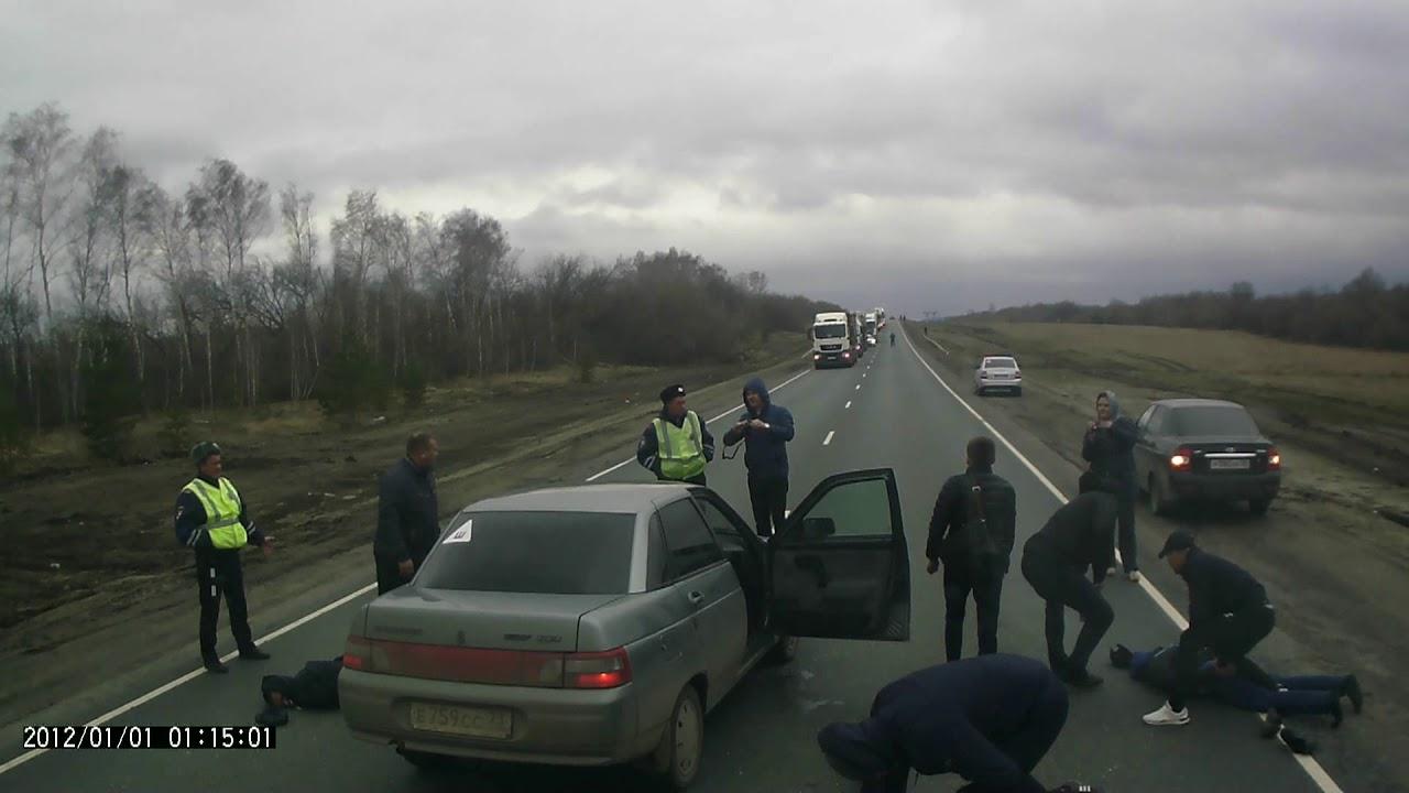 Задержание на трассе М-5 Ульяновская область 20.04.18