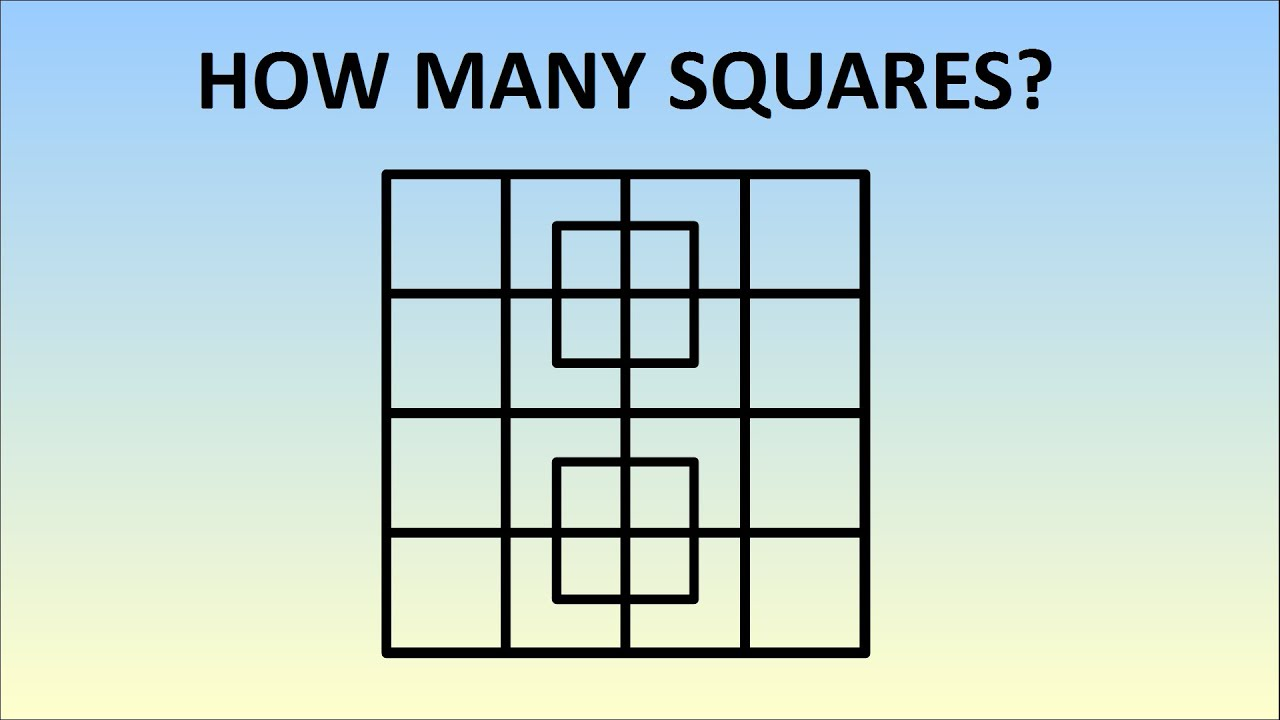 How Many Squares Are In This Picture? Learn The Formula! - YouTube