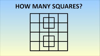 How Many Squares Are In This Picture? Learn The Formula!