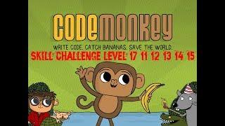 Play Code Monkey Skill Challenge Level #17-11#17-12# 17-13#17-14 #17-15# 2018