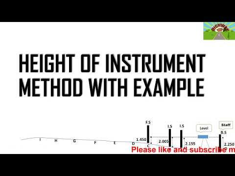 HEIGHT OF INSTRUMENT METHOD WITH EXAMPLE