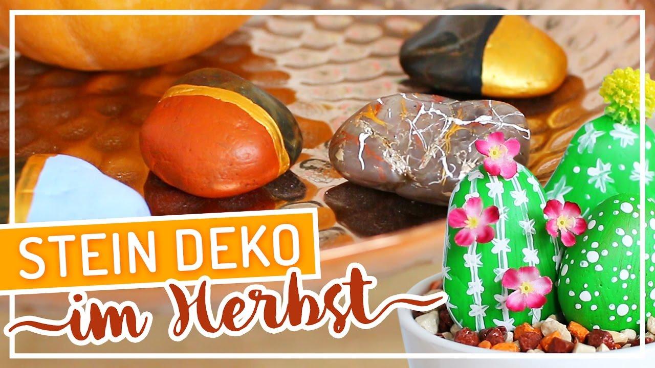 Deko Mit Steinen.Diy Einfache Herbst Deko Mit Steinen Typischsissi