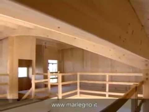 Case in legno villa bifamiliare bolgare youtube for Villa legno