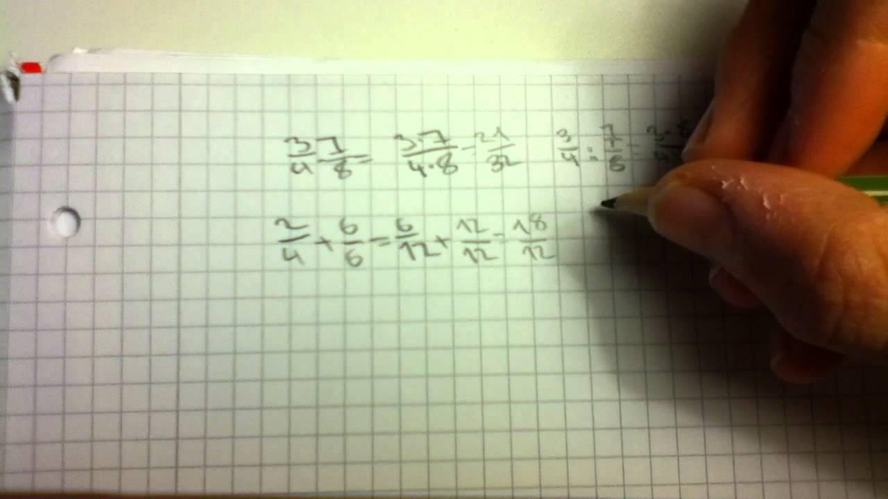 Bruchrechnen leicht gemacht - Mathe Übungen - YouTube