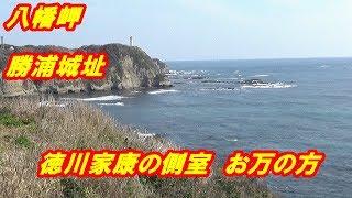 八幡岬公園 勝浦城址 #城跡にお万の方(養珠院)の銅像があり、太平洋を一望できる絶景、お万は徳川家康の側室です