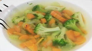 Яркий овощной суп с Брокколи