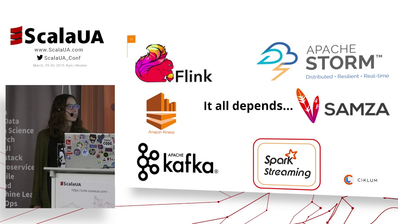 Roksolana Diachuk at #ScalaUA - Streaming data processing with Apache Spark