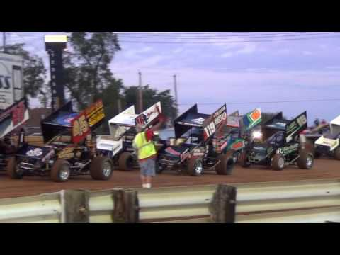 Lincoln Speedway 410 and 358 Sprint Car Highlights 09-03-16