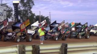Lincoln Speedway 410 and 358 Sprint Car Highlights