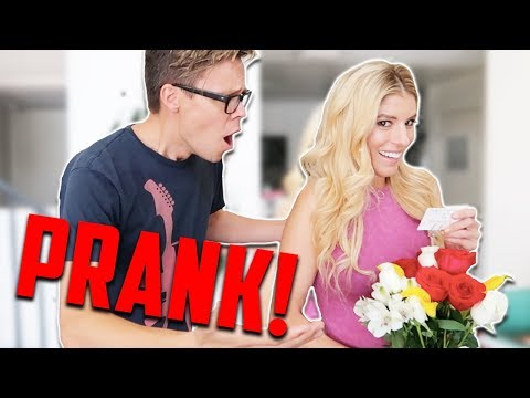 PRANKING HUSBAND WITH FLOWERS FROM EX BOYFRIEND!