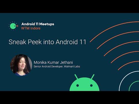 [WTM Indore] Sneak Peak into Android 11