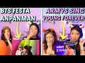 [BTS FESTA 2019] Anpanman Stage Self Cam + ARMYs sing Young Forever (Wembley) SISTERS REACTION