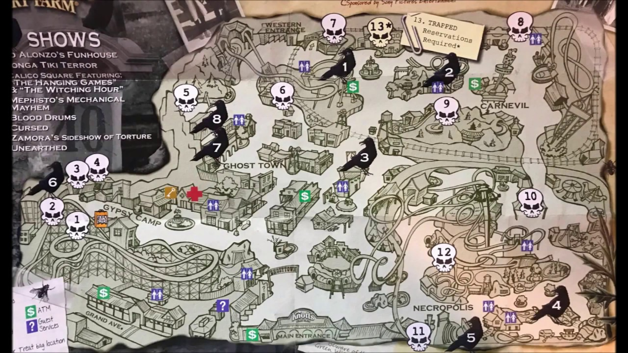 Knotts Scary Farm Map Knott's Scary Farm Maps Over the Years #2   YouTube Knotts Scary Farm Map