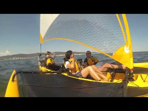 Hobie Tandem Island   Triple Action: Sailing with friends...