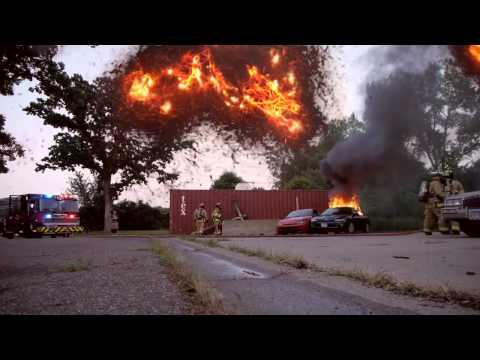 Car Fire Firefighter Training