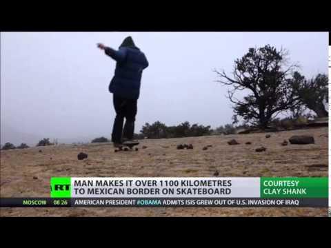Freewheeling 'Solitary Skateboard Journey ACROSS America's WILDERNESS'