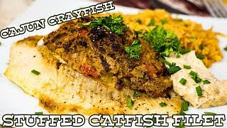 Cajun Crayfish STUFFED Catfish | The Starving Chef