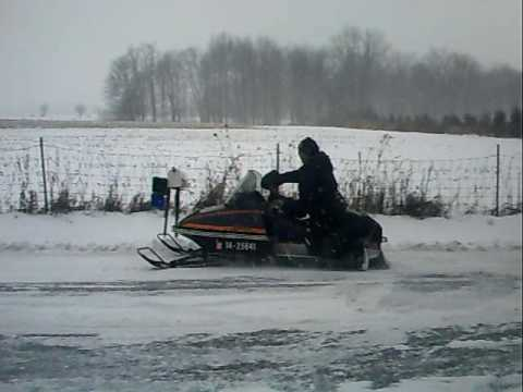 Pappy Doing 180s On His Snowmobile 1978 Arctic Cat Pantera 5000