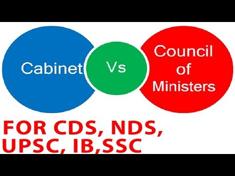 जानिए क्या है  Difference Between Cabinet And Council Of Ministers For CDS, NDS, UPSC, IB, SSC