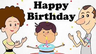 Happy Birthday Song Animated Engilsh Kids Nursery Rhymes | Cartoon Songs in HD For Children