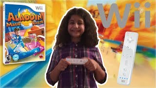 "Wii Gameplay! | Me and Girl Game"" - Aladdin Magic Racer Review"" (Wii)"