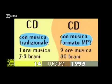 (cultura & Storia) 14 07 1995 Nasce Formato MP3 (MPEG 1 AUDIO-layer 3) Rivoluzione Informatica