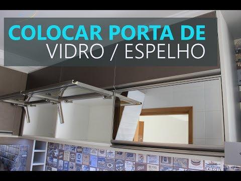 Porta de Vidro Basculante c/ Pistão Blum Aventos hk-xs