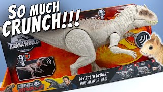 New Jurassic World Indominus Rex Destroy 'N Devour Dino Rivals Mattel thumbnail