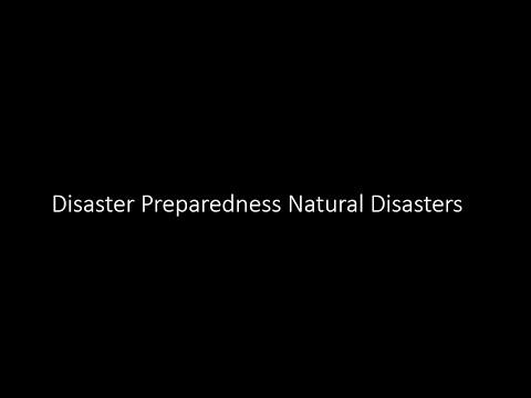 Disaster Preparedness Natural Disasters