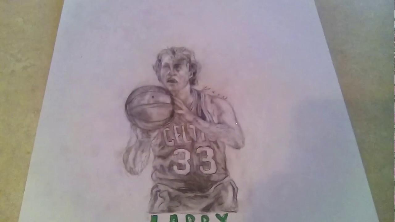 Drawing Of Larry Bird | TJ Studios - YouTube