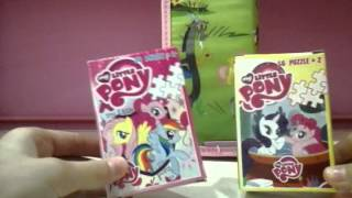 Обзор пенала и пазлов My little pony.