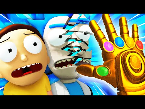 DESTROYING RICK AND MORTY With NEW INFINITY GAUNTLET (Rick And Morty: Virtual Rick-Ality Gameplay)