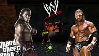 GTA IV WWE Triple H Mod vs WWE Shawn Michaels - Old School WWE Makes Me Happy!