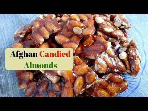 Shirini Badam - Afghan Candied Almonds Recipe - شیرینی بادام - خسته شیرین