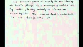 Mod-01 Lec-33 Exercises on Heat Flow in Furnaces and Heat Exchangers