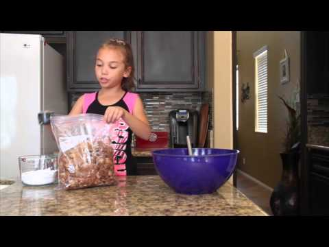 """Peanut Butter, Chocolate, Chex Snack Mix """"Puppy Chow"""" 