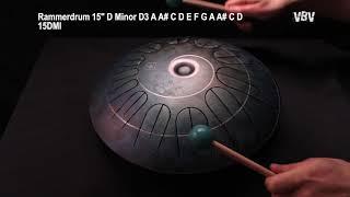 "Tongue Drum 15"" 12 Notes D Minor video"