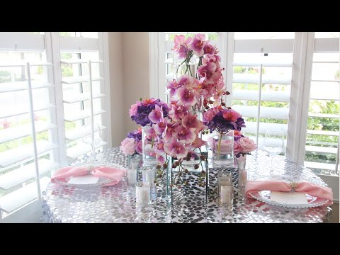 DIY Glam Wedding Table Decorations Centerpiece