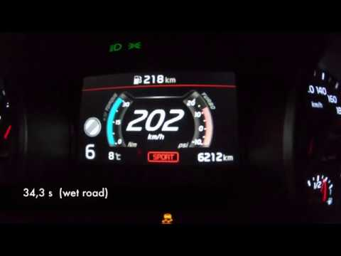 Kia ProCeed GT Acceleration 0-200 Km/h - 204 PS Top Speed