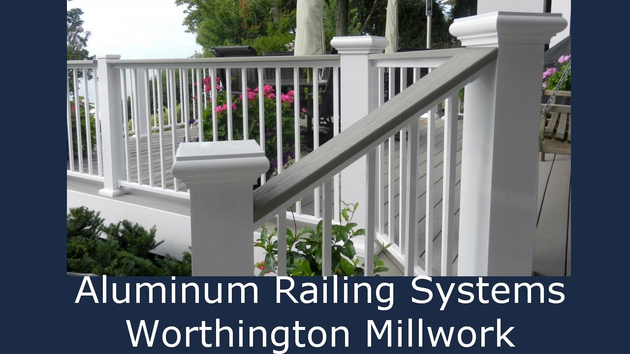 aluminum railing system styles a b youtube