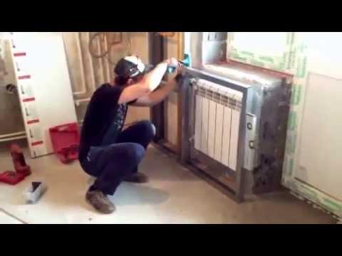 Как спрятать трубы отопления