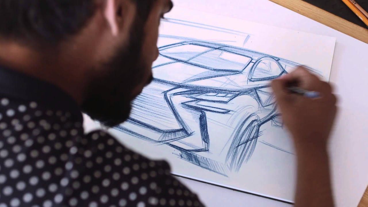 How to draw a car - designing the Lexus LF-SA - YouTube