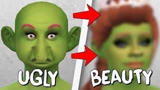 ФИОНА ИЗ ШРЕКА? ИЗ УРОДИНЫ В КРАСАВИЦУ! - UGLY TO BEAUTY THE SIMS 4