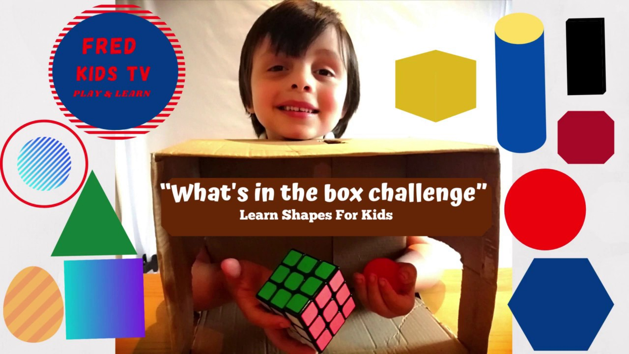 What's in the box challenge - Learn Shapes for Kids Preschool ...