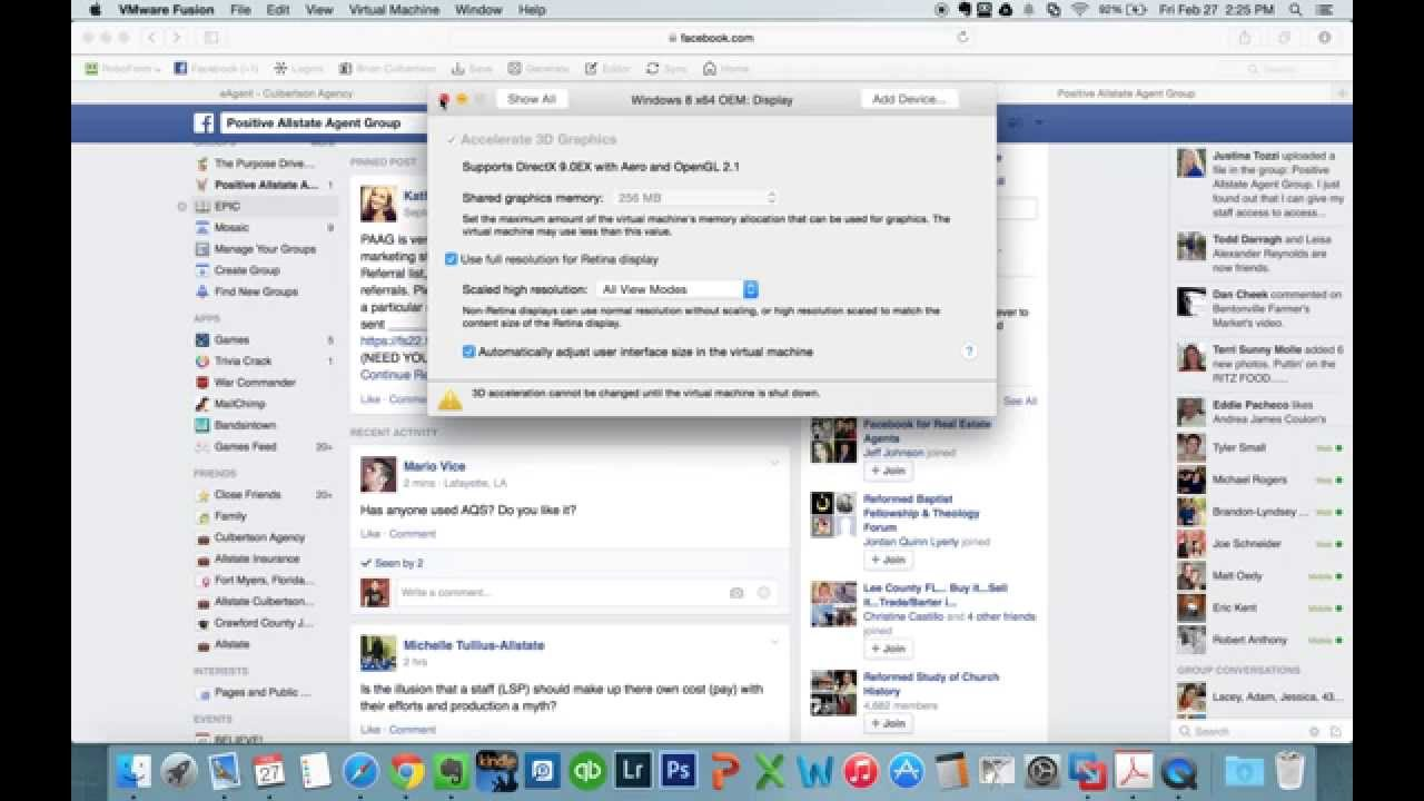 VMWare Fusion MacBook Retina Display Issue Resolution