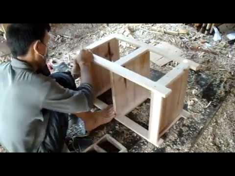 membuat rak dispenser atau rice cooker sederhana dari kayu